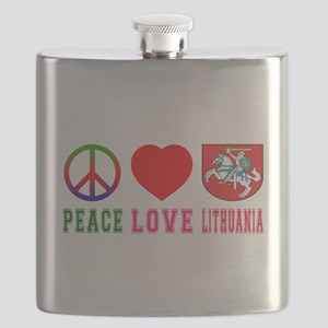 Peace Love Lithuania Flask