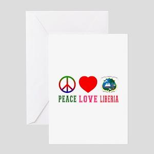Peace Love Liberia Greeting Card