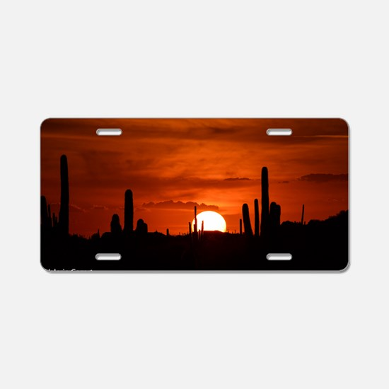 Sunset Red (Large) Aluminum License Plate