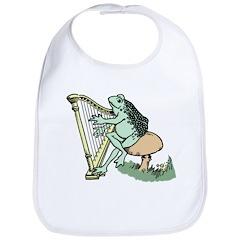 Frog playing harp Bib