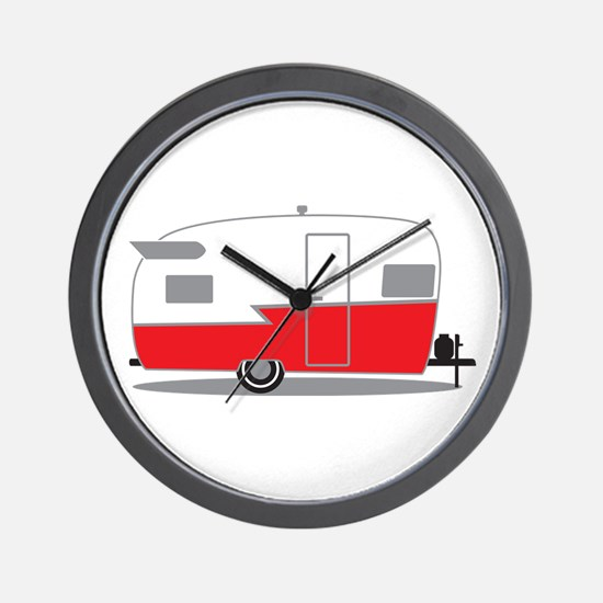 Cute Airstream trailers Wall Clock