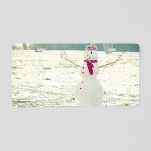 But Snowmen Can't Talk Aluminum License Plate