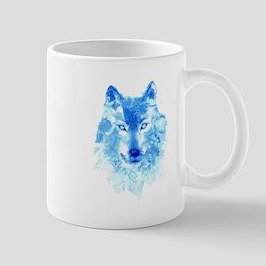 Watercolor Winter Wolf Mug