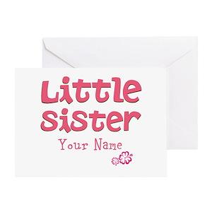 Little sister greeting cards cafepress m4hsunfo