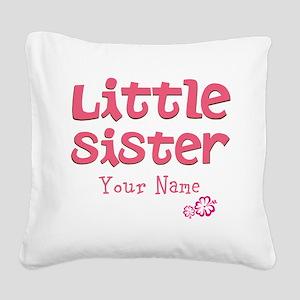 Cute Little Sister Square Canvas Pillow