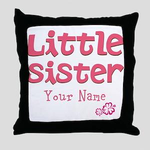 Cute Little Sister Throw Pillow
