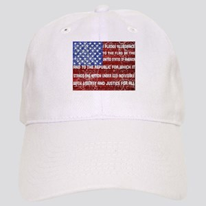 Flag and Pledge Baseball Cap