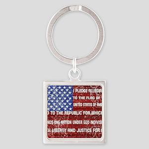 Flag and Pledge Keychains