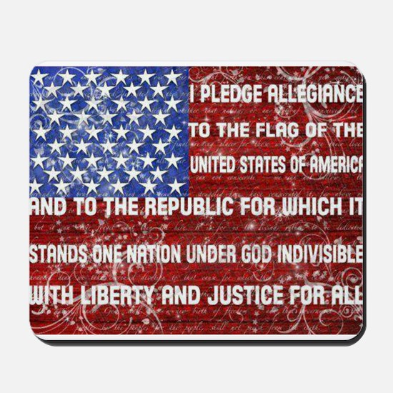Flag and Pledge Mousepad