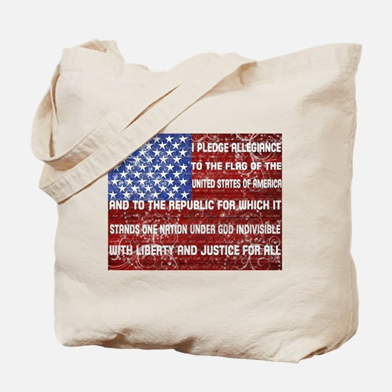 Flag and Pledge Tote Bag