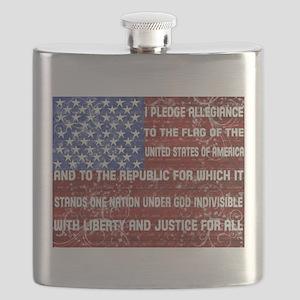 Flag and Pledge Flask