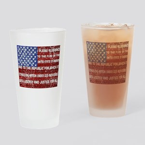 Flag and Pledge Drinking Glass