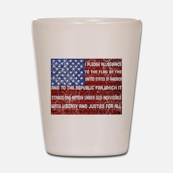Flag and Pledge Shot Glass