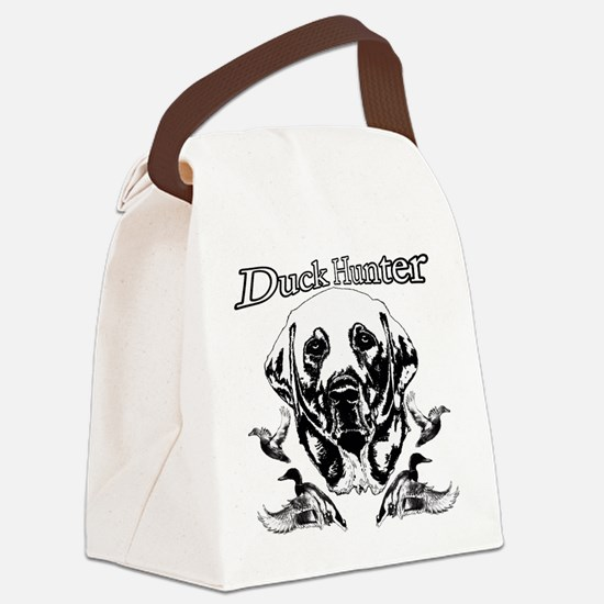 Duck Hunter Labrador Canvas Lunch Bag