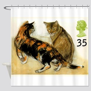 Vintage 1995 Great Britain Cats Postage Stamp Show