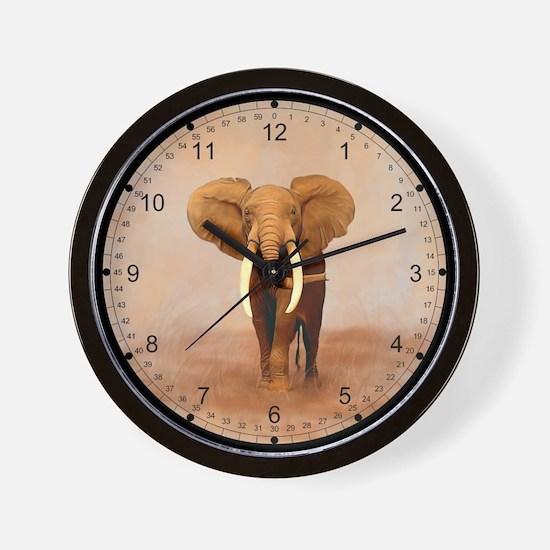 Painted Elephant Wall Clock
