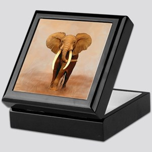 Painted Elephant Keepsake Box