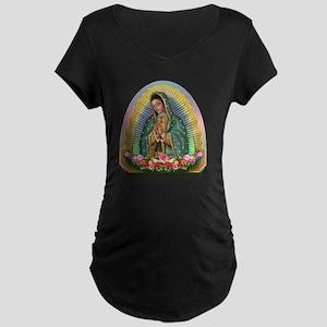 Guadalupe Yellow Aura Maternity Dark T-Shirt