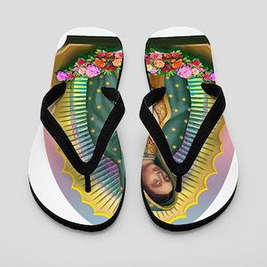 Guadalupe Yellow Aura Flip Flops