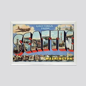 Greetings from Seattle Rectangle Magnet