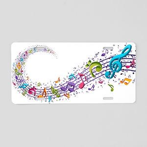 Music Stream Aluminum License Plate