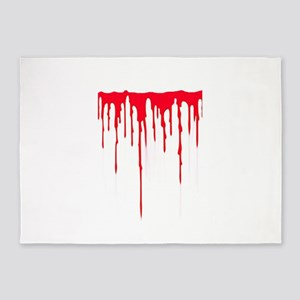 Bleeding 5'x7'Area Rug