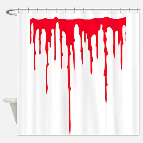 Bleeding Shower Curtain