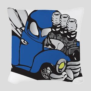 Muscle Truck Woven Throw Pillow