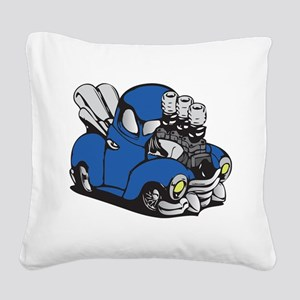 Muscle Truck Square Canvas Pillow