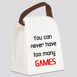 too many games Canvas Lunch Bag