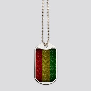 Africa Diamond Plate Design Dog Tags