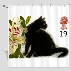 Vintage 1995 Great Britain Black Cat Postage Stamp
