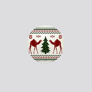 Christmas Hump Day Camel Ugly Sweater Mini Button