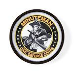 Minuteman Civil Defense Corps Wall Clock