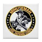 Minuteman Civil Defense Corps Tile Coaster