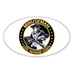 Minuteman Civil Defense Corps Oval Sticker