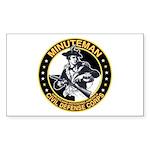 Minuteman Civil Defense Corps Sticker (Rectangular
