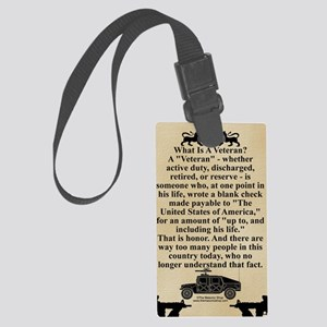 The Veteran Large Luggage Tag