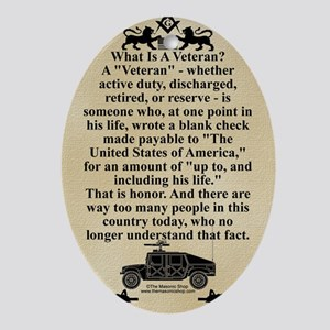 The Veteran Oval Ornament