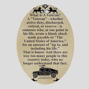 The Veteran Oval Ornament