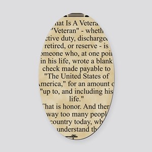 The Veteran Oval Car Magnet
