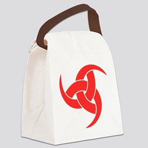 triple horn of odin Red on Drk Canvas Lunch Bag