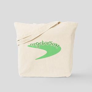 Vegetarian Logo Tote Bag