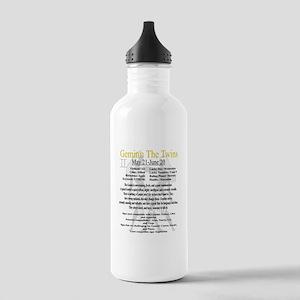Gemini traits Water Bottle