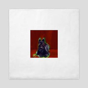Scottish Terrier Holiday Queen Duvet