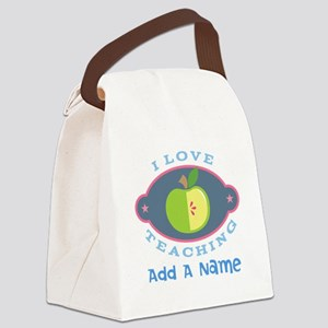 Personalized I Love Teaching Canvas Lunch Bag