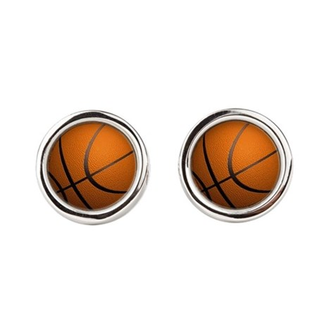 Basketball Sport Round Cufflinks