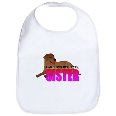 Chocolate Labrador Retriever Sister Bib