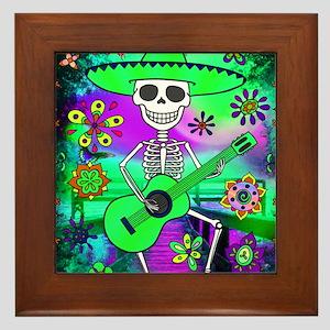 Best Seller Sugar Skull Framed Tile