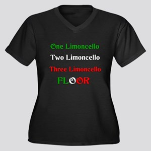Limoncello Women's Plus Size V-Neck Dark T-Shirt